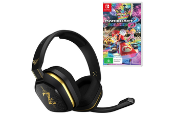 ASTRO A10 The Legend of Zelda: Breath of the Wild Gaming Headset with Mario Kart 8 Deluxe Bundle