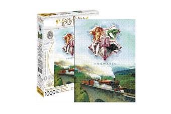 Harry Potter Hogwarts Express with Hogwarts Crest 1000 Piece Jigsaw Puzzle