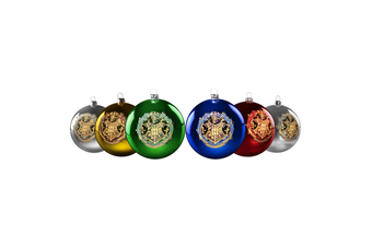 Harry Potter Hogwarts Christmas Baubles Set of 6