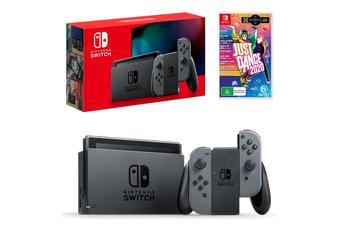 Nintendo Switch Grey Joy-Con Console with Just Dance 2020 Bundle