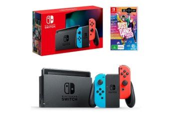 Nintendo Switch Neon Joy-Con Console with Just Dance 2020 Bundle