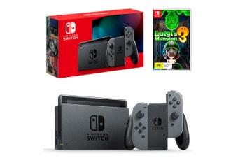 Nintendo Switch Grey Joy-Con Console with Luigi's Mansion 3 Bundle
