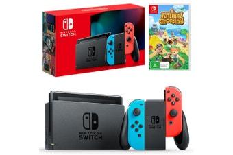 Nintendo Switch Neon Joy-Con Console with Animal Crossing: New Horizons Bundle
