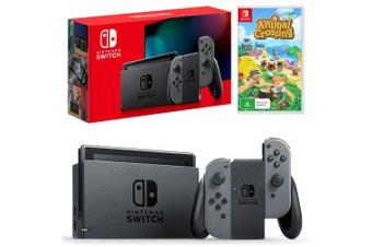 Nintendo Switch Grey Joy-Con Console with Animal Crossing: New Horizons Bundle