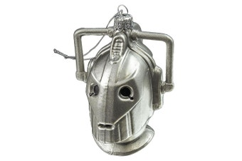 Doctor Who Cyberman 4.25 Inch Glass Ornament