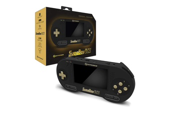 SupaBoy Black Gold Portable Pocket Console For SNES