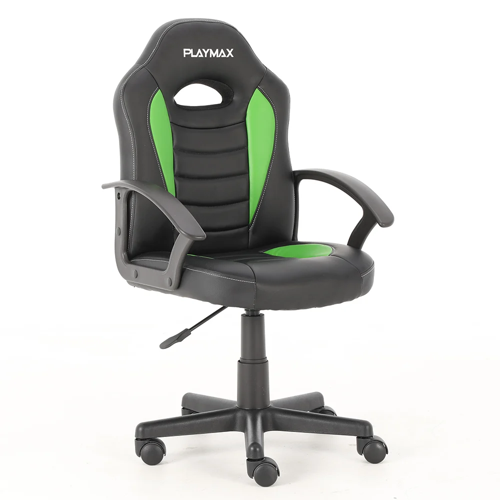 Picture of: Playmax Kids Gaming Chair Green Black Matt Blatt