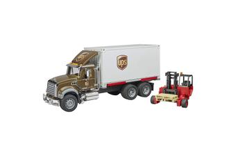 Bruder Mack Granite UPS Logistics Truck with Forklift
