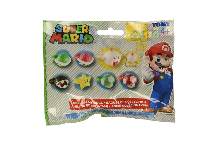Super Mario Bros Collectors Rings Blind Bag