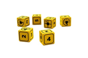 Alien the Role Playing Game Stress Dice Set (Yellow)