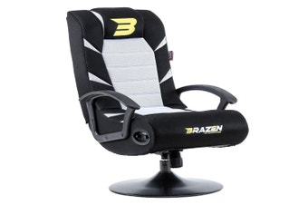 PRE-ORDER: Brazen Pride 2.1 Bluetooth Surround Sound Gaming Chair (White)