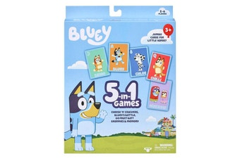 Bluey 5-In-1 Card Game Set