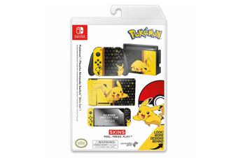 Controller Gear Pokemon Pikachu Switch Skin & Screen Protector Set