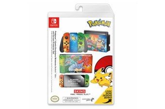 Controller Gear Pokemon Kanto Evolutions Switch Skin & Screen Protector Set