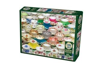 Cobble Hill Tea Cups 1000 Piece Jigsaw Puzzle