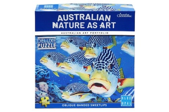 Blue Opal Australian Nature as Art Oblique Banded Sweet Lips 1000 Piece Jigsaw Puzzle