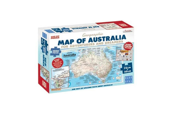 Blue Opal Map of Australia for Adventurers & Dreamers 1000 Piece Jigsaw Puzzle