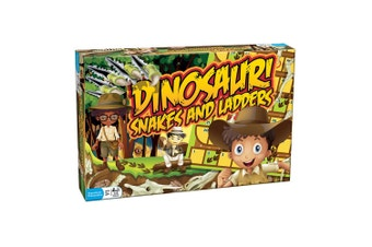Dinosaur Snakes and Ladders Board Game