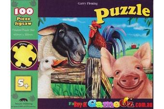 Farm Yard Friends Animal 100 Piece Jigsaw Puzzle