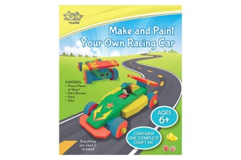 Make & Paint Your Own Racing Car Activity Kit