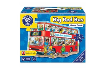 Orchard Toys Big Red Bus 15 Piece Jigsaw Puzzle