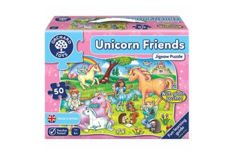 Orchard Toys Unicorn Friends Puzzle & Poster 50 Piece Jigsaw Puzzle