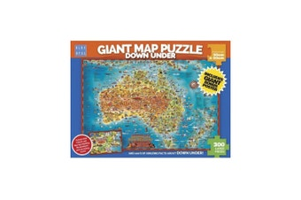 Blue Opal Giant Map Of Australia Down Under 300 Piece Jigsaw Puzzle