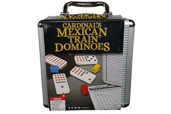 Cardinal Games Mexican Train Dominoes with Aluminium Carry Case