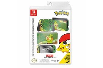 Controller Gear Pokemon Grookey Switch Skin & Screen Protector Set