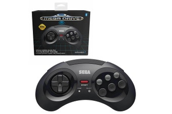 Retro-Bit Sega Mega Drive Bluetooth Arcade Controller for PC (Black)