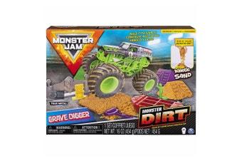 Monster Jam Monster Dirt Deluxe Grave Digger Set