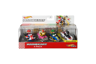 Hot Wheels Die Cast Mario Kart 4 Pack