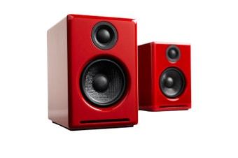 Audioengine A2+ Wireless Speakers (Red)