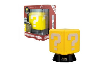 Paladone Super Mario 3D Question Block Light With Stand