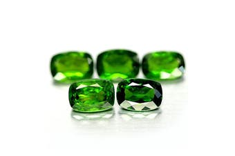 4.36ct Natural Cushion Facet Cut Chrome Diopside