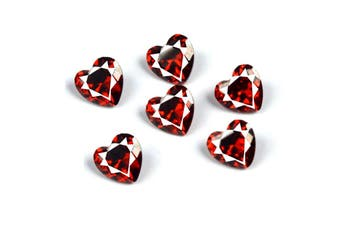 5.18ct Natural Heart Facet Cut Reddish Orange Garnet (6pcs)