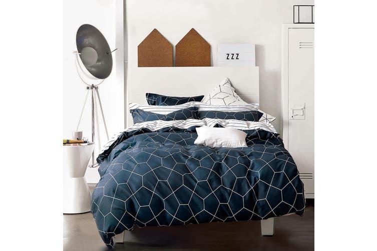 100% Cotton Reversible Bedding Duvet Doona Quilt Cover Set Queen - Fred