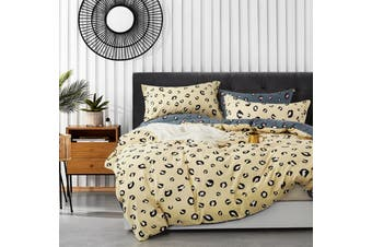 100% Cotton Reversible Bedding Duvet Doona Quilt Cover Set Queen - James