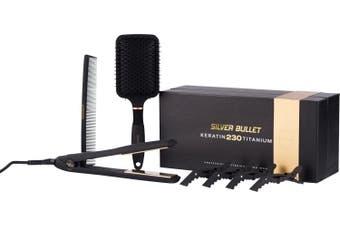 Silver Bullet Keratin 230 Gold Titanium Straightening Hair Iron