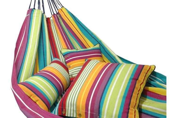 Designer Striped Cotton Hammock - Mixed Colours (Cochine)