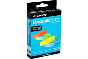 Mozzigear 2 Pack Mosquito Repellent Wrist Bands