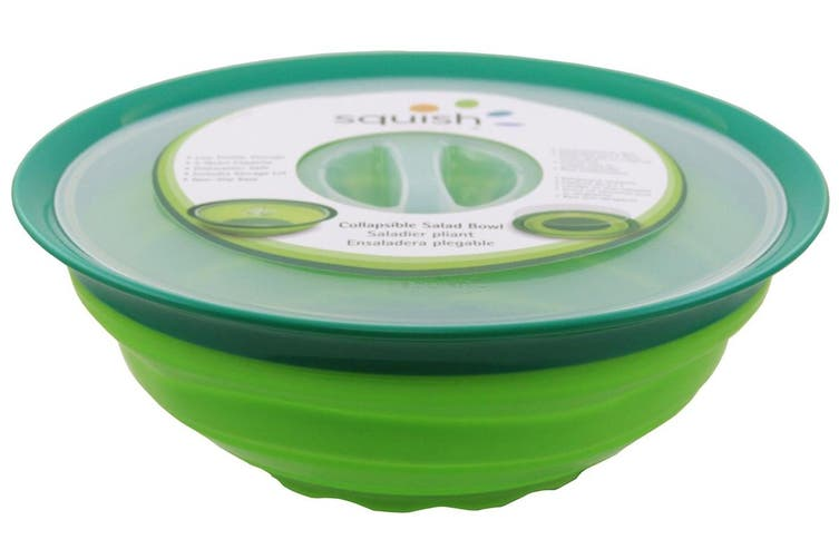 Squish Collapsible Large Salad Bowl with Lid 4.7L