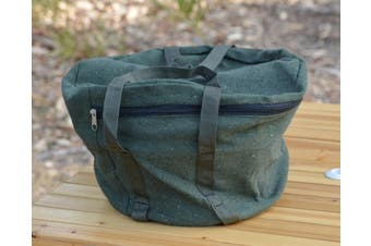 Canvas Round Camp Oven Bag (2QT) - Green