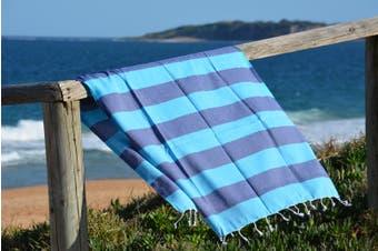 Compact Lifestyle Beach Daze Turkish Towel – Navy/Blue