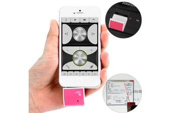 Pocket Wireless Remote Control Laser Pointer with 3.5mm Jack and USB 2.0 Interface-Pink
