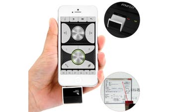 Pocket Wireless Remote Control Laser Pointer with 3.5mm Jack and USB 2.0 Interface-BLACK
