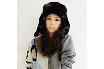 Chic Fluffy Fluff and Ribbons Decorated Trapper Hat For Women
