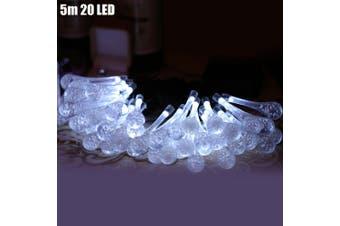 Christmas Props 5m 20 LEDs Solar String Light-WHITE