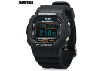 Skmei 1134 Men Sports Digital Watch with Week Date 5ATM Water Resistant Chronograph Alarm