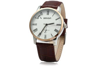 WeiQin W23056 Quartz Men Watch Leather Strap 5ATM Water Resistant